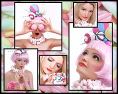 Candy make up Make up by Charlotte Saunders Photography by Leah Dollimore