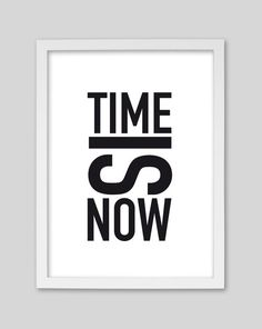 Originaldruck - Time is now / Druck von whiterabbit - ein Designerstück von whiterabbit-design bei DaWanda