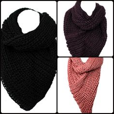 $12.99 Chunky Triangle infinity Scarf make sure to get one @ thecompanyboutiques.com