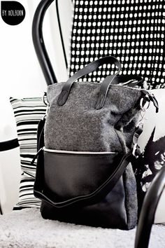 Wool and leather, my new lovely bag!