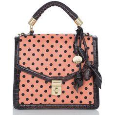 Brahmin Olivia Rose Satchel Bag (5.049.780 IDR) ❤ liked on Polyvore featuring bags, handbags, purses, pink, handle satchel, red purse, red satchel, pink purse and pink satchel purse