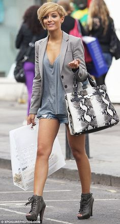 frankie sandford hair | The Saturdays star Frankie Sandford appears to have overdone the fake ...