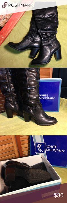 Selling this 👁🗨 White Mountain Black Steady Boots on Poshmark! My username is: emilyrugburn. #shopmycloset #poshmark #fashion #shopping #style #forsale #White Mountain #Shoes