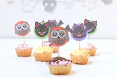 Free Printable Halloween Cupcake Toppers - Party Pieces Blog & Inspiration