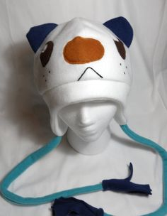 Pokemon Oshawott Fleece Hat MADE TO ORDER by Higginstuff on Etsy, $20.00