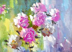 Summer bunch  oil palette knife painting by Dmitry by spirosart