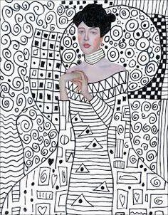 Art, Gustav Klimt Template for drawing patterns