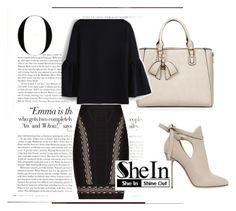 """zew"" by melisa-484 ❤ liked on Polyvore featuring Hervé Léger, Jimmy Choo and Vanity Fair"