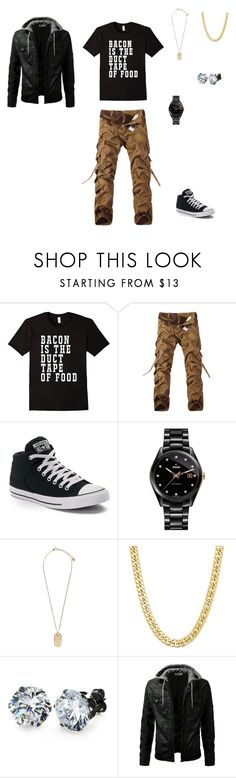 """""""Untitled #66"""" by fireqveen0513 ❤ liked on Polyvore featuring Converse, Rado, Versace, West Coast Jewelry, men's fashion and menswear"""