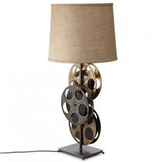 A film reel lamp is an excellent lamp for a home theater room but I'd like it in my office, too.