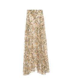 Shop Isabel Marant Ferone Floral-printed Maxi Skirt In Yellow & Orange from stores. material: viscose, silk~care instructions: dry clean~designer colour name: Yellow Isabel Marant, Outfit Zusammenstellen, Trends, Who What Wear, Sequin Skirt, Celebrity Style, Floral Prints, Yellow, Orange