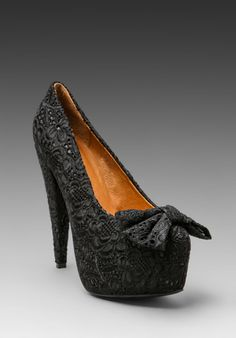 JEFFREY CAMPBELL Why Yes Bow in Black