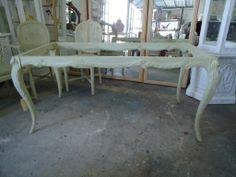 Vintage Faux Bois Dining Table