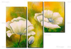 "Wandbild ""Mohnblumen am Morgen"" - Wandbilder bei bimago"