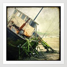Boat Wreck #10 Art Print by Marc Loret - $18.00