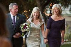 Why not have both mom & dad walk you down the aisle? Photography by Scott and Breanna Chanson
