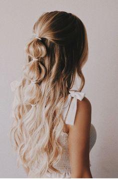 Haarstyling - New Sites Braided Hairstyles Updo, Party Hairstyles, Fringe Hairstyle, Hairstyle Ideas, Hair Ideas, Hairdos, Wedding Hairstyles, School Hairstyles, Elegant Hairstyles