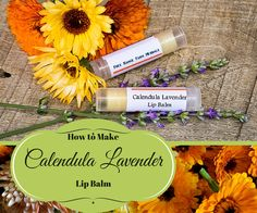 Homemade lip balm is so simple to make. Here is a recipe for a soothing and moisturizing Calendula Lavender Lip Balm that I know you will love!