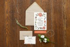 PALARDY WEDDING | These hand drawn, lettered & cut wedding invitations were designed around the bride's amazing bouquet and beautiful personality! | Graphic Design | Cali Traina