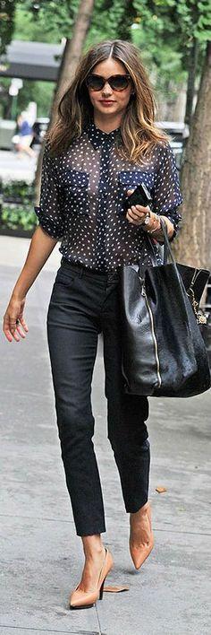 #Summer #Outfits / Black See Through Top + Black Skinny Pants