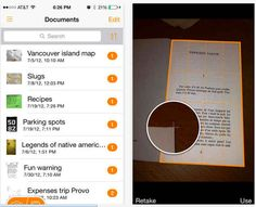 Use your iPhone or iPad as a pocket scanner with Genius Scan.
