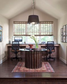 Hgtv Com Features This Large Office With A Wraparound Desk For Two