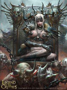 Artist: Chin Jing Hui aka zeen84 - Title: Croix Adv - Card: Maneating Demon Britt (Monarch)