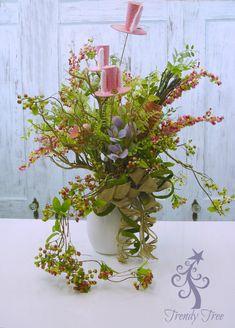 RAZ Easter Floral Centerpiece - Trendy Tree Blog