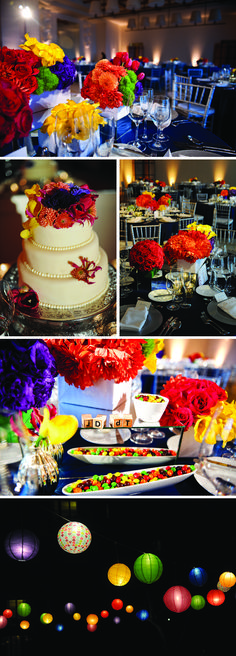 love this colorful wedding!