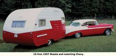 1957 Shasta matching Chevy