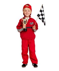 Homemade Halloween Costumes for Kids: DIY Race Car Driver costume (click through for how-to & more)