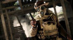 Battlefield 1 Soldier Gas Mask Gun Wallpaper