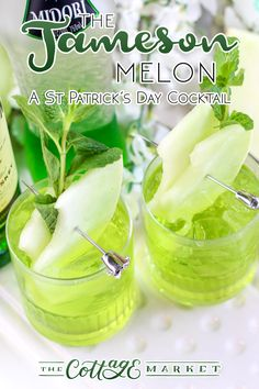 The Jameson Melon /// A St. Patrick's Day Cocktail A refreshing drink to celebrate any day of the year!  Cheers!