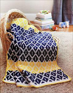 Tunisian Crochet Baby Blankets from KnitPicks.com Knitting by Sharon Hernes Silverman On Sale