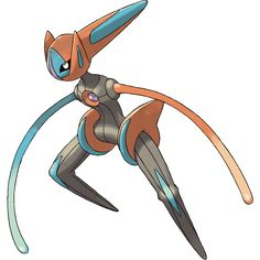 """The """"Speed form"""" of the alien Deoxys, a promotional Pokémon whose dex number is first available in """"Pokémon Emerald,"""" released by Nintendo / Game Freak in 2003 Pokemon Pokedex, Pokemon Deoxys, Pokemon Sun, Pokemon Games, Draw Pokemon, Pokemon Fusion, Pokemon Esmeralda, Pokemon Black, Monsters"""