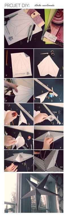 Projet DIY : étoile déco de papier