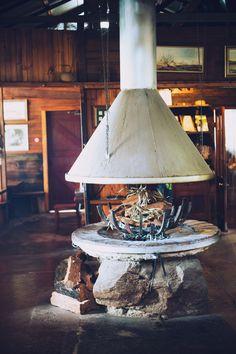 decor, cabin, fireplaces, hous idea, dream hous