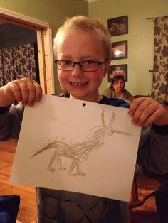Jacksons latest masterpiece Jackson's Art, 8 Year Olds