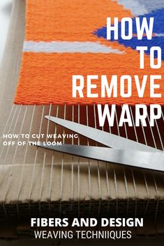 Now that you have finished weaving, its time to remove the weaving off of the loom. Here are a few techniques to finishing the warp ends. Weaving Loom Diy, Weaving Art, Loom Knitting Patterns, Weaving Patterns, Knitting Tutorials, Stitch Patterns, Tapestry Loom, Weaving Wall Hanging, Wall Hangings