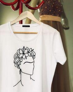 T-Shirt FRIDA KAHLO ❤️ NEU 38 40 42 Made In Italy BLOGGER weiß