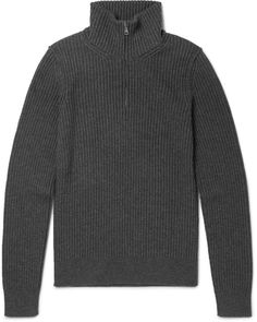 Dolce & Gabbana Slim-Fit Ribbed Wool Half-Zip Sweater