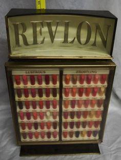 Vintage 60's Revlon Lipstick Makeup Cosmetic Store Display |