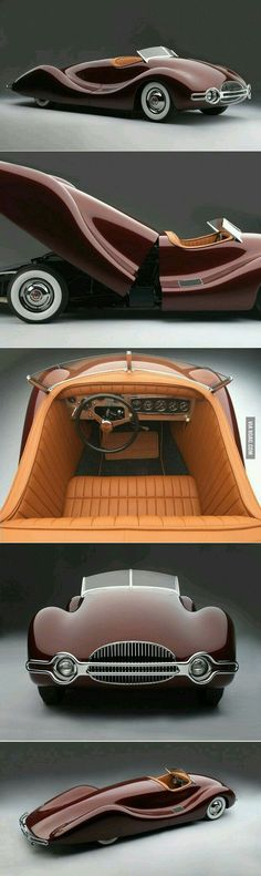 Buick Streamliner designed by Norman E Timbs with aluminum custom bodywork by Emil Diedt Buick, Retro Cars, Vintage Cars, Antique Cars, Classic Sports Cars, Classic Cars, Automobile, Audi, Bmw Autos