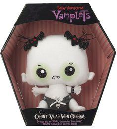 Count Vlad Von Gloom in Coffin $19.95 http://shop.vamplets.com