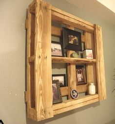 Pallet transformation into shelves