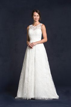 We're loving the corded lace design on our #Gallagher gown! So unique! #Gallagher can be viewed on our site, www.lissimon.com in our 2015 Collection.