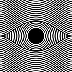 eye op art, optical art by sergi delgado Más Illusion Kunst, Illusion Art, Image 3d, Kinetic Art, Psychedelic Art, Art Design, Art Plastique, Geometric Art, Optical Illusions