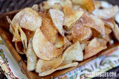 Homemade Tater Chips- these are yummy!  I just use seasoned salt for the seasoning.