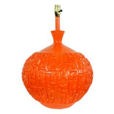 Mid Century Orange Lamp, $398, now featured on Fab.
