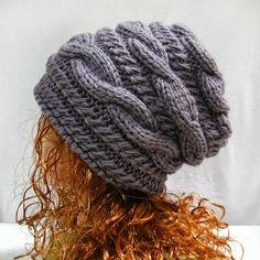 Knitting pattern hat slouchy